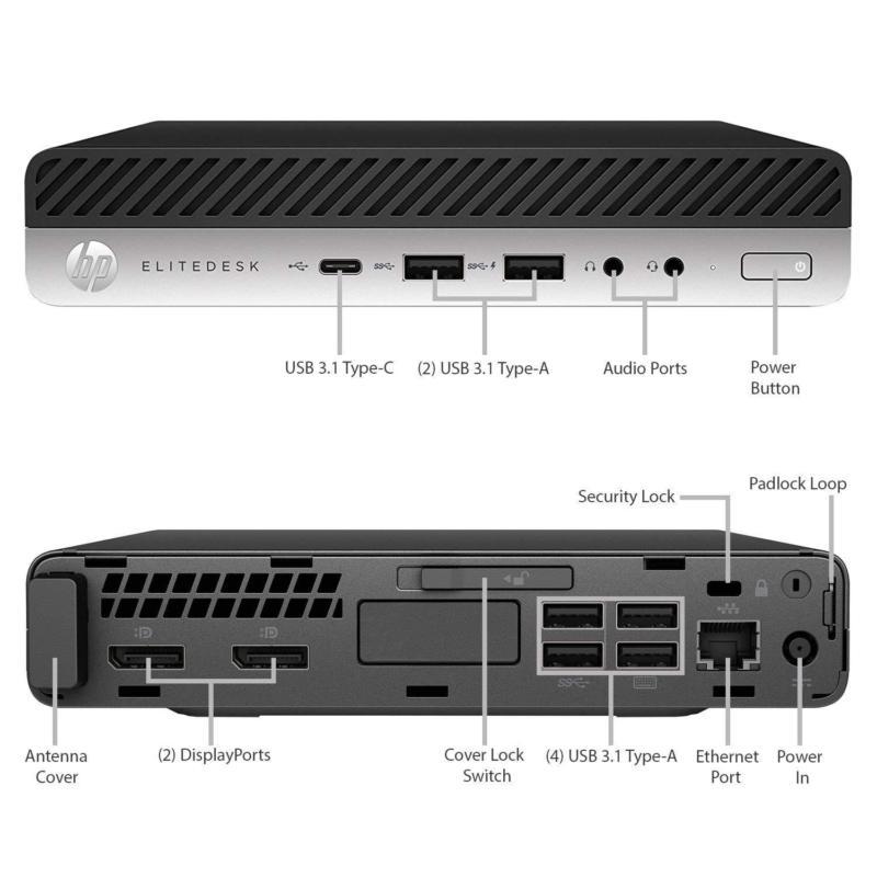 NEW HP EliteDesk 800 G3 Mini i5-7500 8GB 256GB NVMe SSD Win10 Pro 3Yr  Warranty